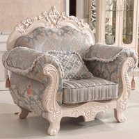 0304FDL808 French Style Carved Wood Europe And Ameriva Sectional Living Room Sofa Set