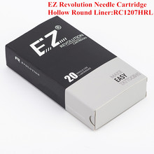 RC1207HRL EZ Revolution Cartridge Needles Hollow Round Liner Tattoo Needles for Rotary Cartridge Tattoo Machine Pen 20PCS/Box недорого