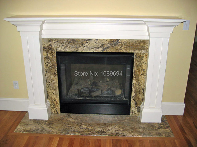 French Simple Design Marble Fireplace Indoor Stone Hearth Travertine Hand Made Carving Chimney Piece