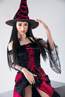 165cm Sex Dolls Realistic Love Doll Soft tpe Men Adult Products with Pointed High Hat Witch For Men Masturbation