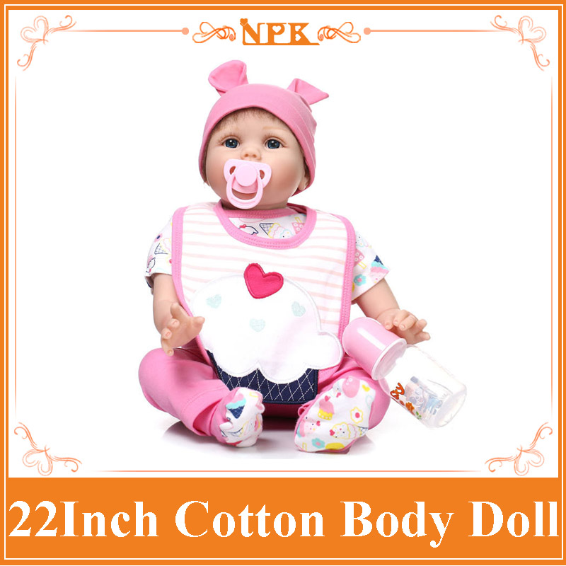 NPK Reborn Baby Doll 22 Inch Lifelike Soft Silicone New Born Babies Toys Alive Baby Bonecas Bebe Best Christmas Gift Brinquedos