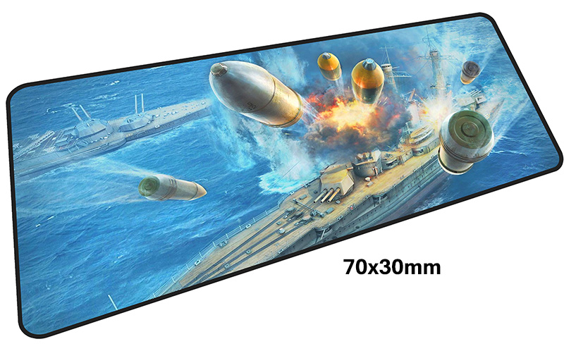 warship mousepad gamer 700x300X3MM gaming mouse pad large locrkand notebook pc accessories laptop padmouse ergonomic mat