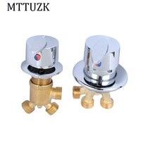 MTTUZK Leaves Handle Bathtub Hot Cold Mixing Faucet Split Jacuzzi Faucet Liner Cylinder Side Sitting 4