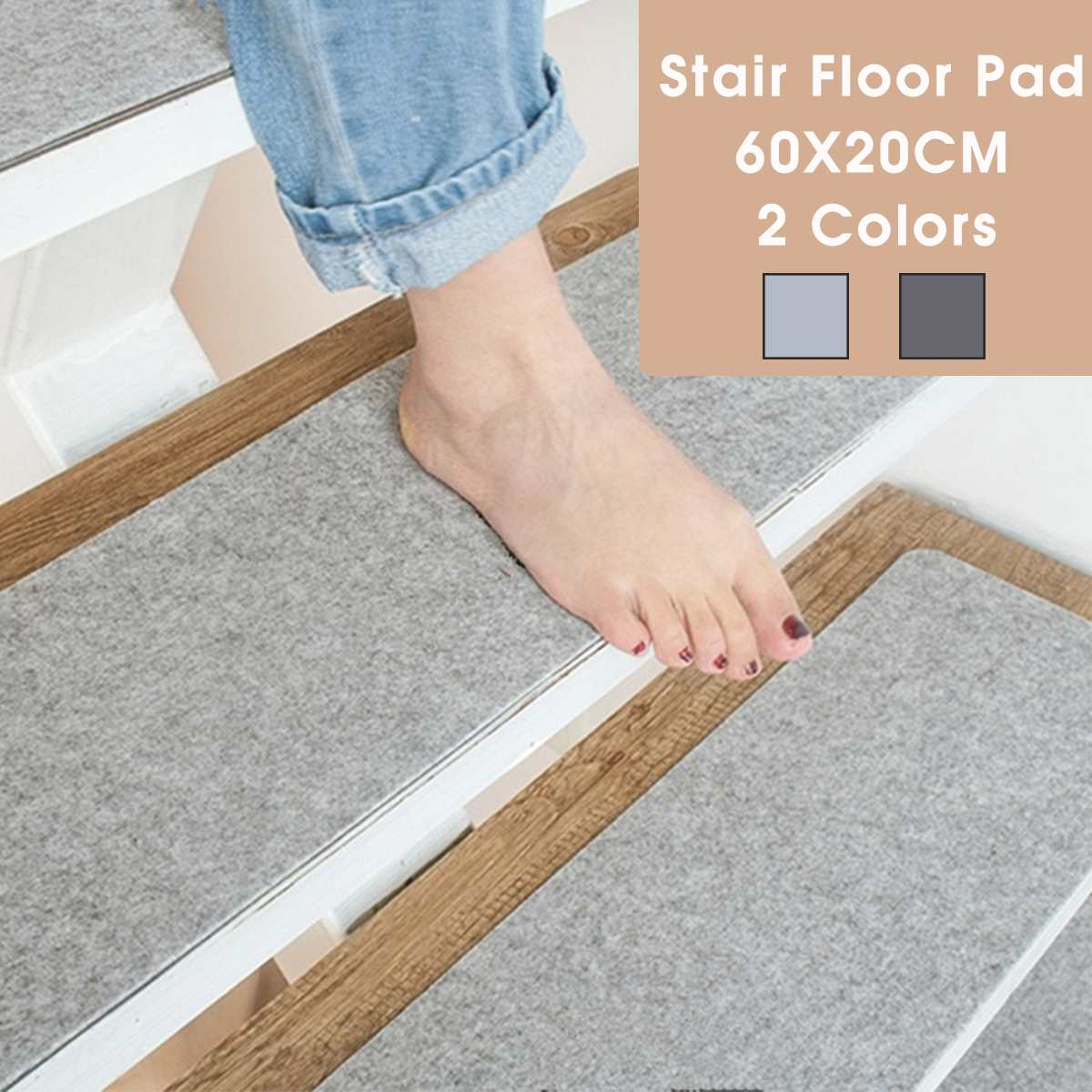 Self-adhesive Non-slip Stair Carpet Mat Reusable Washable DIY Floor Mat for Kitchen Living Room Stairway Pads Rug Soft Doormat
