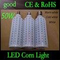 E40 E27 B22 50W 5730 SMD 165 LED Chip Corn Light AC110V/220V Warm/White Bulb Maize Lamp Home Indoor Outdoor street lighting 1pcs