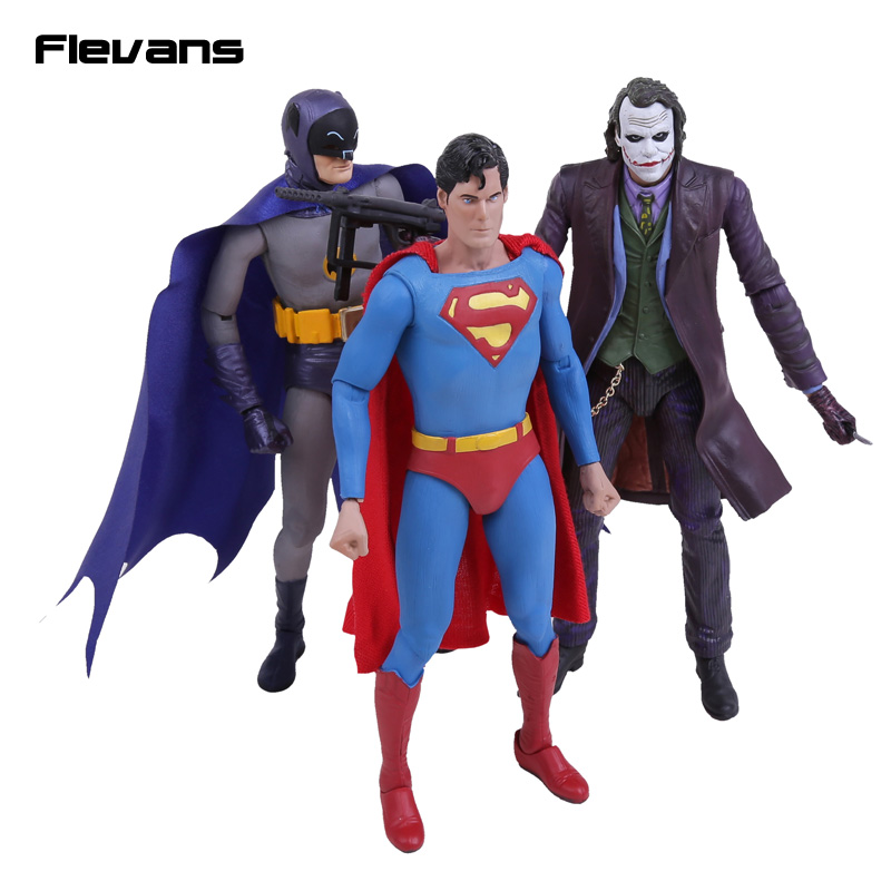 NECA DC Comics Batman Superman The Joker PVC Action Figure Collectible Toy 7 18cm shfiguarts batman the joker injustice ver pvc action figure collectible model toy 15cm boxed