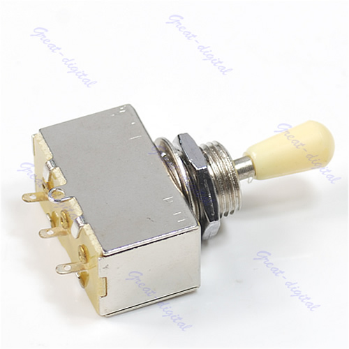 Chrome Box Style 3 Way Closed Toggle Switch For Electric Guitar Cream Knob Free Shipping bqlzr dc12 24v blue pattern switch s ot winch power toggle switch for old style toyota