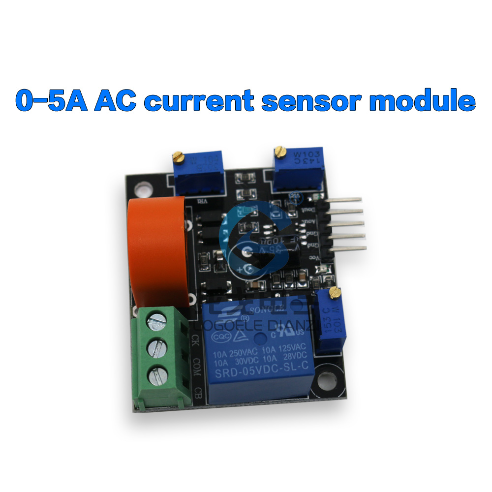 current transformer LM393 0-5A AC sensor overcurrent / short-circuit protection detection module - logoele Flagship store