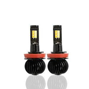 Image 2 - 2 Stuks Auto H7 Led Fog Light Bulb H1 H3 H4 H8 H9 H11 9005 880 Auto X5 Dubbele Kleur fog Lamp 40W 3800LM Auto Styling 6000K