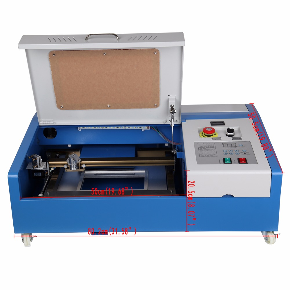 40W CO2 Laser Engraver Cutting Engraving Machine USB Port 300x200mm