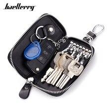 Genuine Leather Keychain Wallet Multi-function Car Key Holder ZipperKey Organizer Casual
