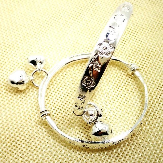 prix bas la meilleure attitude site autorisé € 2.0 15% de réduction|Bijoux fantaisie accessoires 2 pièces bébé cloche  réglable fleur bracelet plaque argent/or enfant bébé filles Bracelet cadeau  ...