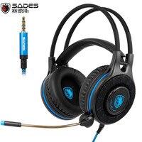 Sades SA936 3.5mm Wired Gaming Headset 2016 Nuova Xbox Un Gioco cuffie Con Microfono per PS4 PC Laptop Mac iPad Mp3 Del Telefono