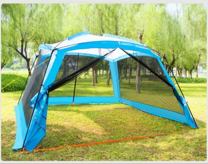 tanxianzhe Explorer outdoor porch Large Camping tent 8 10 people barbecue awning portable folding beach 2 seconds speed open