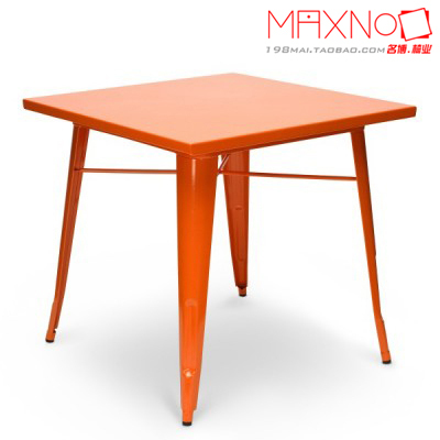 ... Outdoor Dining Table Metal Retro American Country To Do The Old Oak  Dining Table, Square ...