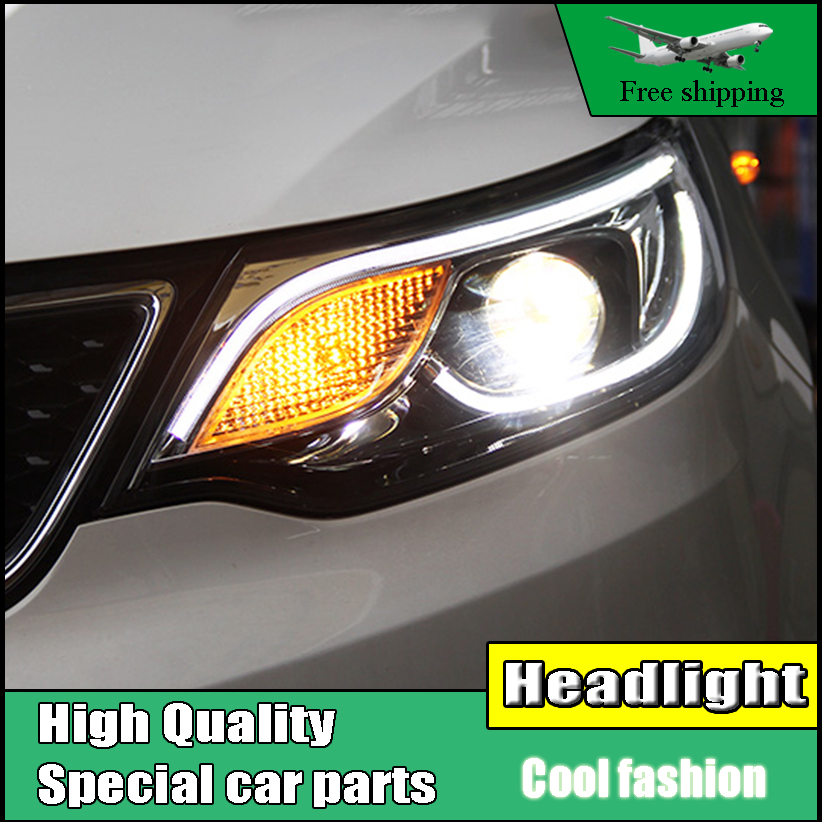 Styling Head Lamp Case For Kia K2 Rio Headlights 2015 2016 LED Headlight LED DRL Bi Xenon Lens High Beam Parking Fog Lamp akd car styling for nissan teana led headlights 2008 2012 altima led headlight led drl bi xenon lens high low beam parking