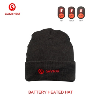 Savior Heat battery heated hat winter outdoor sports cold weather smart 3 levels reduce head pain control men women old man gift