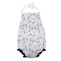 Newborn Baby Girl Lace Bodysuit Christening Clothes Sunsuit Party Outfits Halter Strap Suit
