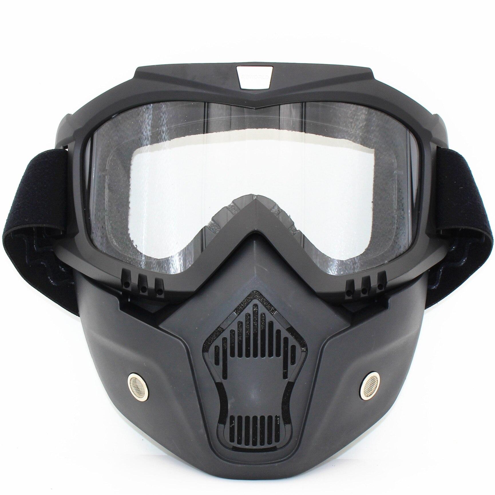 Prix pour Ski Vélo Moto Visage Masque Lunettes Motocross Moto Moteur Open Face Amovible Lunettes Casques Vintage Lunettes Universelle