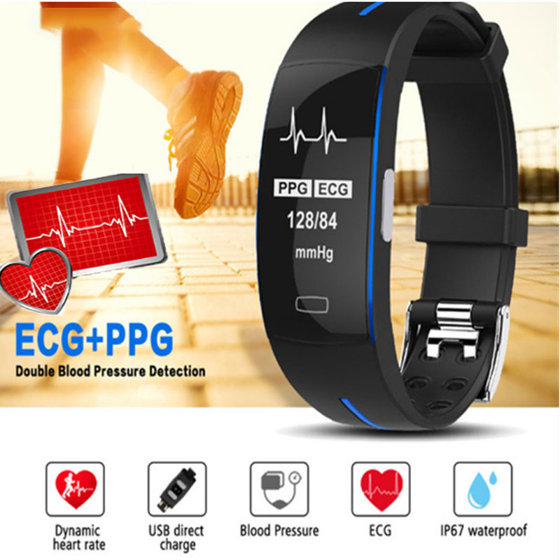 ecg+ppg <font><b>Smart</b></font> bracelet pressure health measurement intelligent pulsometr with fitness GPS <font><b>smart</b></font> watch blood Waterproof <font><b>band</b></font> image