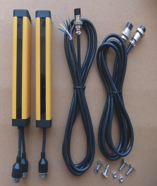 12 точек 40 мм реле из положить Protecter свет занавес безопасности фотоэлектрический решетки гидравлические защиты удар датчик решетки