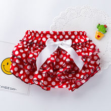 Newborn Girl Underwear Infant Girl Bowknot Dot Print Bloomer Nappy Underwear Panty Diaper cute baby clothing underwear(China)