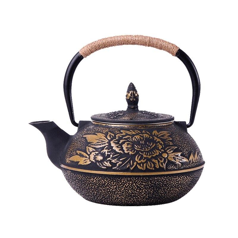 Théière en fonte 0.9L à la main sans BPA yixing samovar théière en céramique émaillée en verre de bouilloire émaillée en argile thé puer kungfu