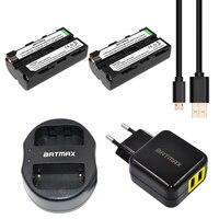 Batmax 2pcs NP F550 NP F550 NPF550 Li Ion Batteries USB Dual Charger For Sony NP