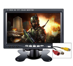 "Image 3 - 10.1 ""monitor 1024*600 2 AV Eingang für Auto Reverse Kamera CCTV mini lcd tragbare screen display kleine 7 zoll Monitor pc"