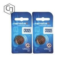 2 шт./лот 2025 Renata кнопочная ячейка кварцевые наручные часы 3V Дистанционное Управление игрушка на батареях