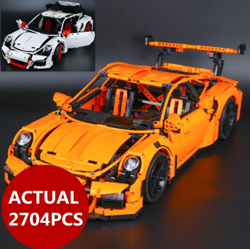 LEPIN 20001 2704PCS technic series Race Car Model Building Kits Blocks Bricks Compatible 42056 Boys Gift Educational Toys gifts free shipping lepin 21002 technic series mini cooper model building kits blocks bricks toys compatible with10242