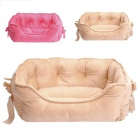 2Colors Luxury dog Kennels princess bed lovely cool dog pet cat beds sofa teddy house with Bowknot