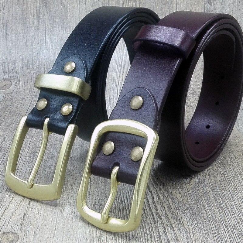 VOHIO designer ceintures hommes de haute qualité allongé 100% ceinture en cuir hommes pure boucle pin jeunesse grande taille 150 cm mode loisirs ceinture