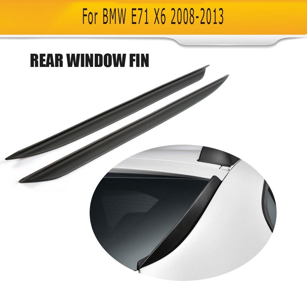 Pour BMW X6 E71 2008-2013 PU fenêtre arrière lèvre aileron aile