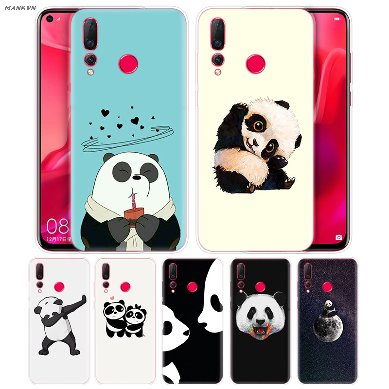 Panda Cartoon Mobile <font><b>Case</b></font> for <font><b>Huawei</b></font> Honor 10i 8S 8A 8C 8X 10 9 Y9 <font><b>Y7</b></font> Y6 Y5 Play Lite 2018 <font><b>2019</b></font> Silicone Cover Back Shell Capa image
