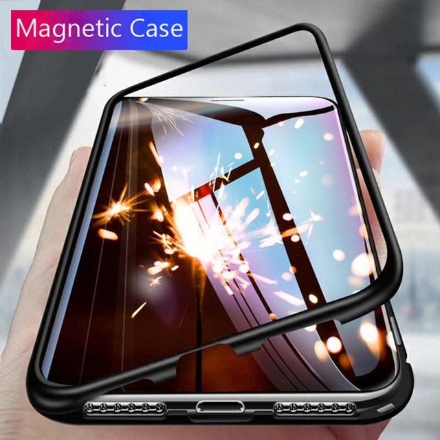 brand new aedff 913b5 US $4.7 20% OFF|360 Magnetic case For Huawei Mate 20 lite Tempered Glass  Back Magnet Adsorption Cover Flip Cases for Huawei Mate 20 lite-in Flip  Cases ...