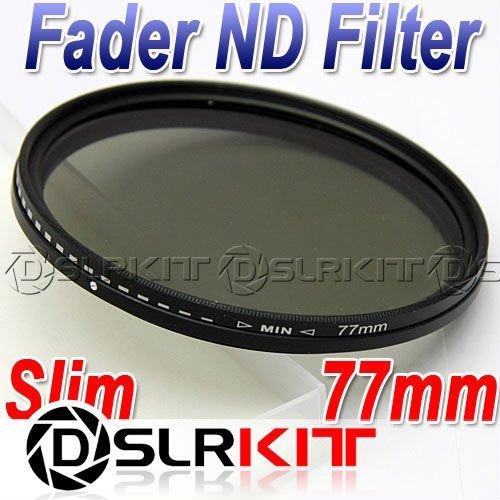 Slim 77mm 77 Fader ND Filter Neutral Density ND2 to ND400