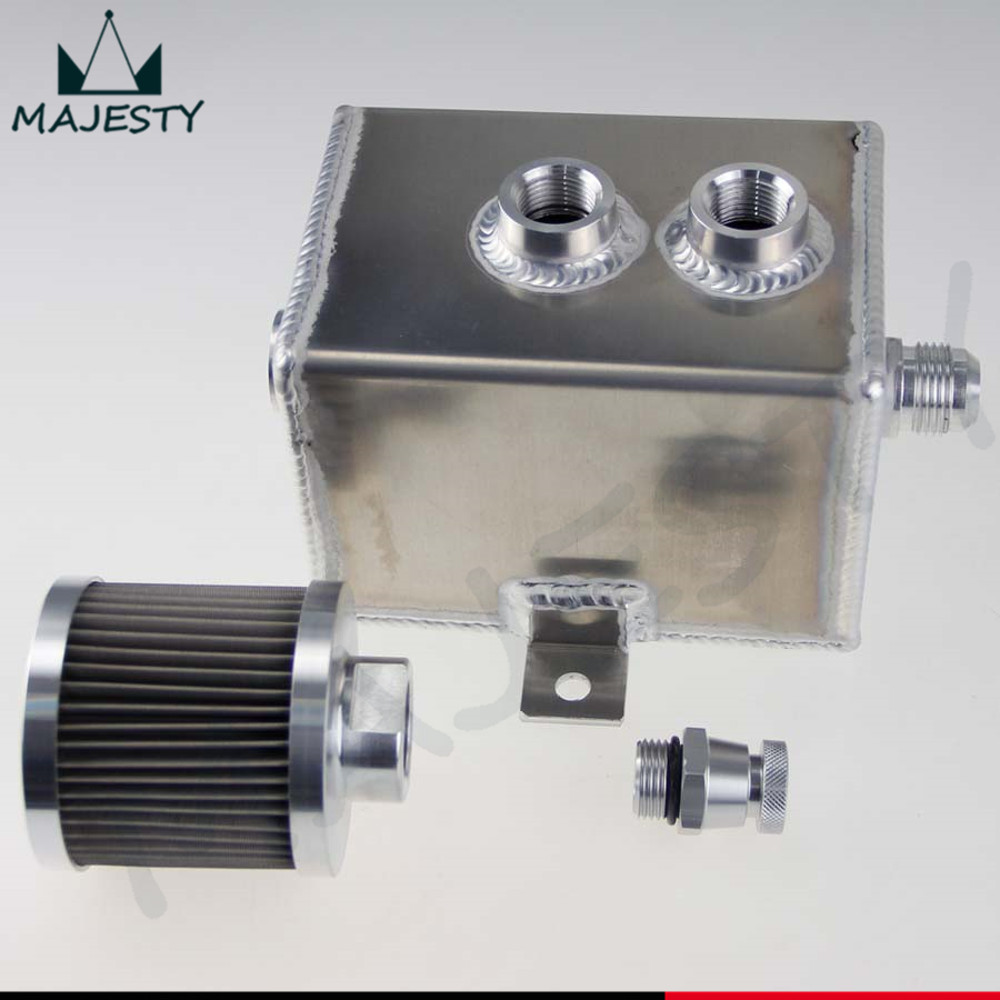 OIL Breather Catch Tank Can 1L AN10 Inlets Filter Drain Baffled