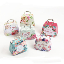 12pc/lot !New flower Big size Handbags tin / candy box / tin storage metal box /