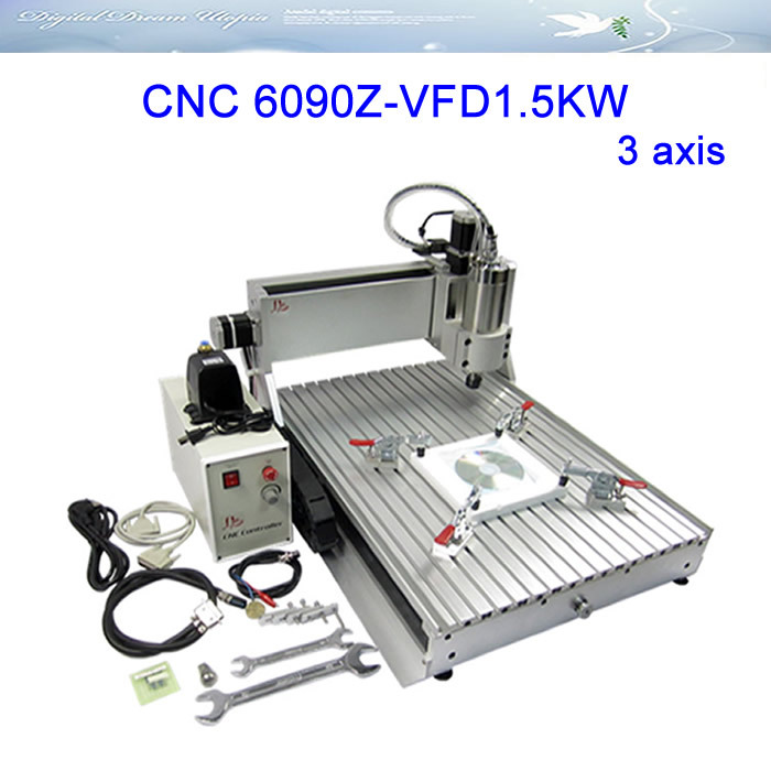 3axis CNC Router LY 6090Z-VFD1.5KW Engraving Machine,cnc cutting machine, Russia special line,free tax!! cnc 4th axis 6090 model