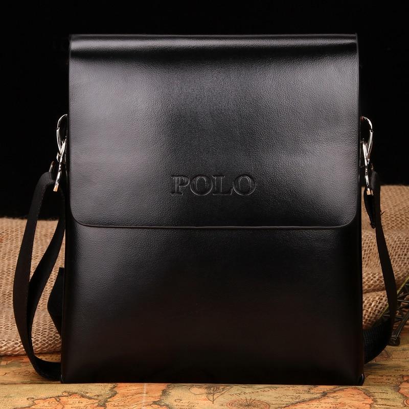 bbe73416de2 ... New 2017 fashion POLO high quality leather bag men bag,men messenger  bags,retro ...