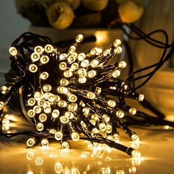5/12/22/52M 20/100/200/500led Solar Led String Light RGB Color Decoration Light for Christmas Garden light Holiday Outdoor Fairy