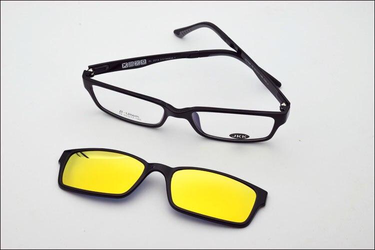 Ультра-светильник, вольфрам, титан, оправа для очков, 3D магнит, зажим, солнцезащитные очки, близорукость, функциональные очки, поляризационные, JKK 79 - Цвет оправы: Bl with ye coating