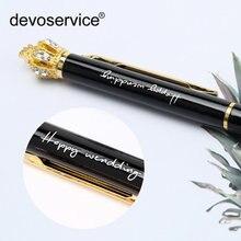 Настраиваемый Логотип красочная Корона Хрустальный стиль ручки