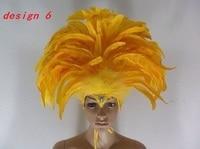 Many patterns Indian chicken head peacock headband Brazil carnival party festival headwear dance stage headpieces for women
