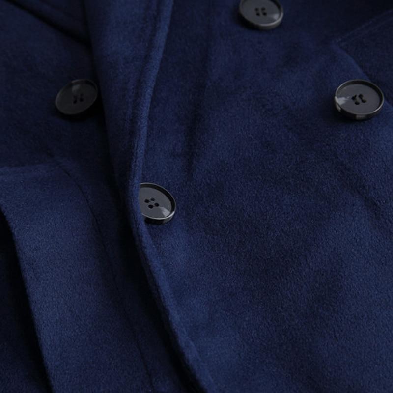 Pardessus Oversize Hiver Imité La Cachemire Épaississent Blue dark Long Manteau Lâche Femmes army Survêtement Green Taille Plus De Mode Automne Navy Laine Solide Libre Gray wXtfx
