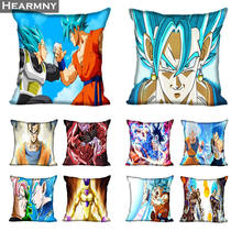 Dragon Ball Super Pillow Case For Home Decorative Pillows Cover Invisible Zippered Throw PillowCases 40X40 45X45cm