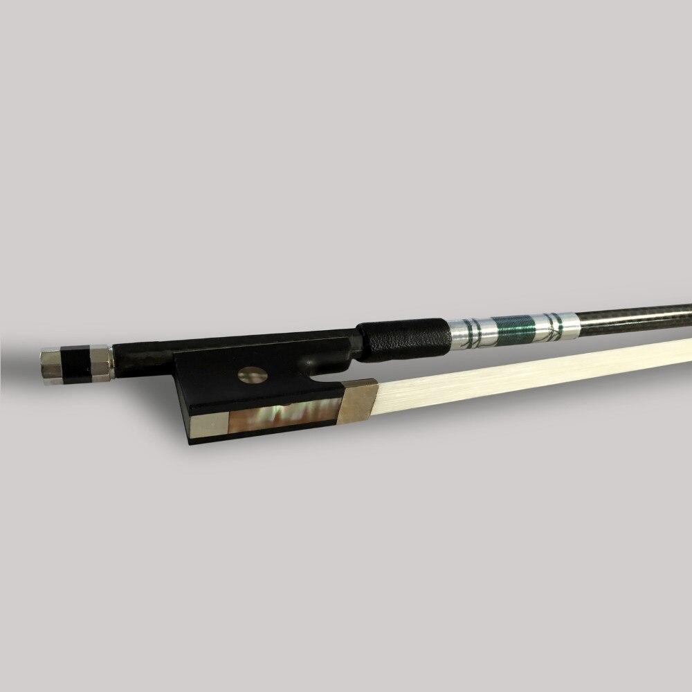 TONGLING Silver Braided Carbon Fiber bonութակի Bow 4/4 3/4 - Երաժշտական գործիքներ - Լուսանկար 5