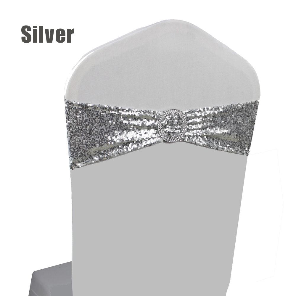 Hot Sale 20pcs/lot Gold/Silver Hotel Banquet Spandex Sequin Chair ...
