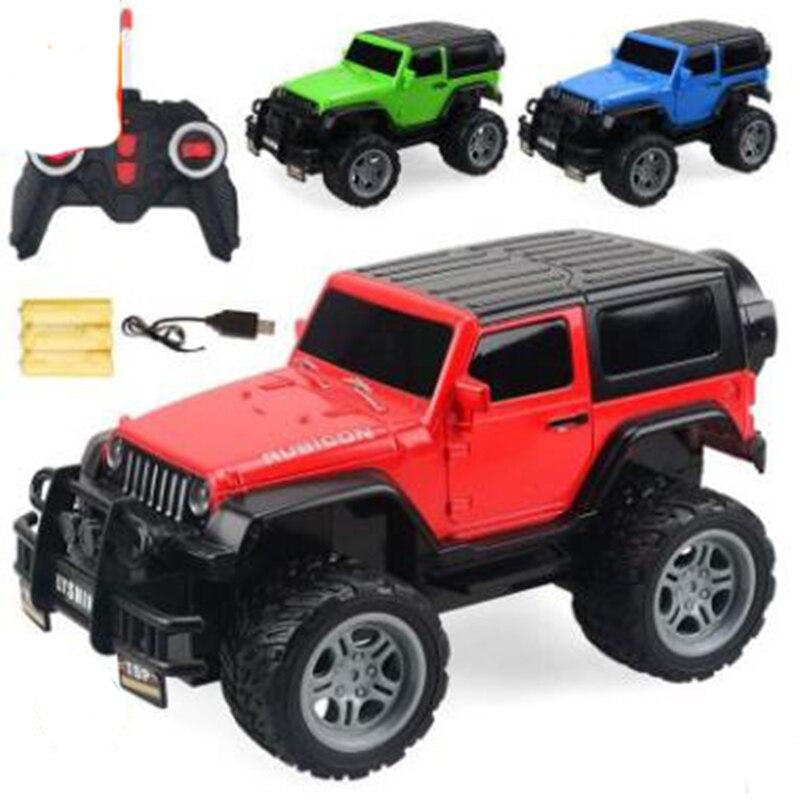Telecar Children's four-way remote control car Charging model toy car Off-road racing